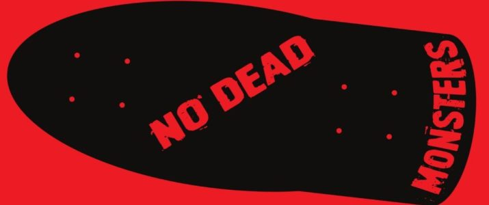 No Dead Monsters old school deck logo