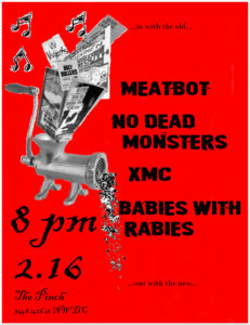 No Dead Monsters flyer The Pinch 2.16