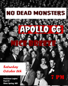 No Dead Monsters - Show Flyer American Legion Post 41
